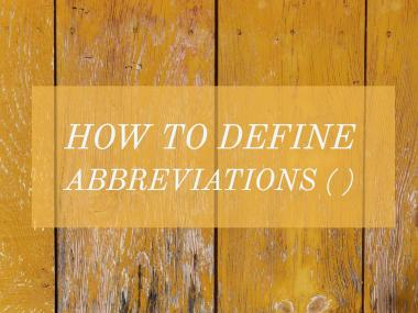 how to define abbreviations